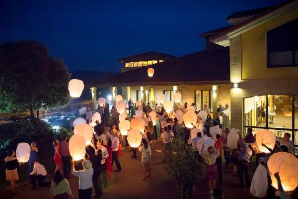 celebración evento, exterior nocturno