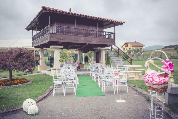 celebración boda, decoración exteriores floral y montaje ceremonia
