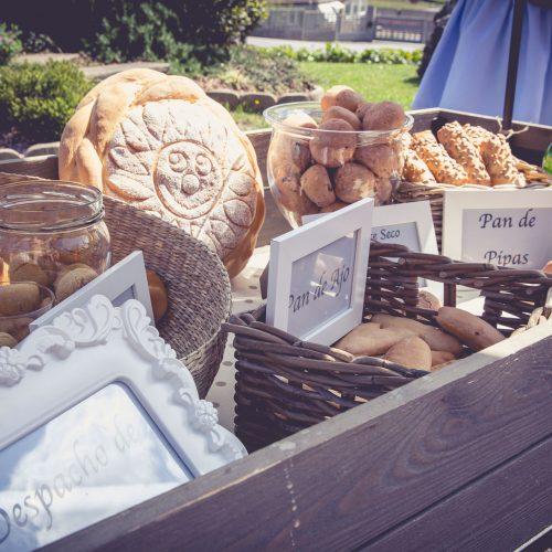 bodas exterior puesto de degustación de pan
